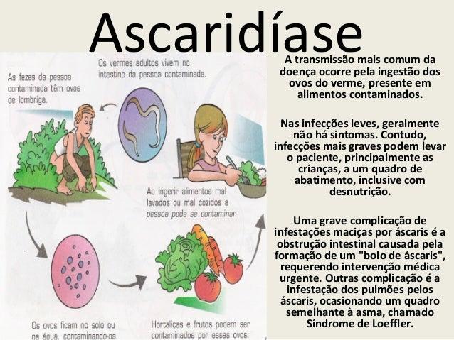Tratamento de diagnóstica de sintomas de parasitas