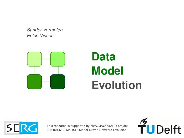 Model Driven Software Development - Data Model Evolution