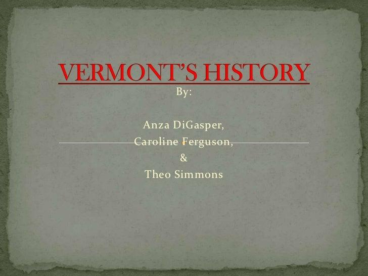 Vermont's history