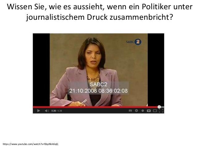 Wissen Sie, wie es aussieht, wenn ein Politiker unterjournalistischem Druck zusammenbricht?https://www.youtube.com/watch?v...