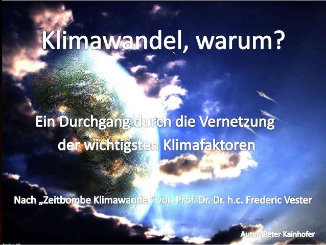 Eines der letzten Themen, mit denen sich der 2003 verstorbene Biochemiker und Kybernetiker Prof. Dr. Dr. h.c. Frederic Ves...