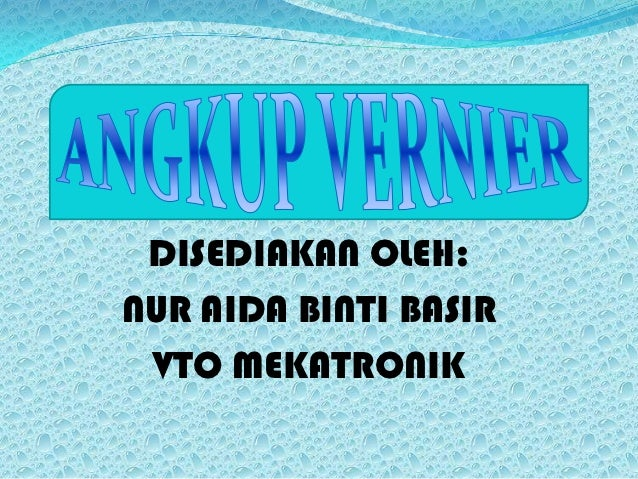 Angkup vernier