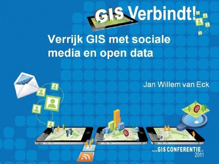 Verrijk gis met sociale media en open data
