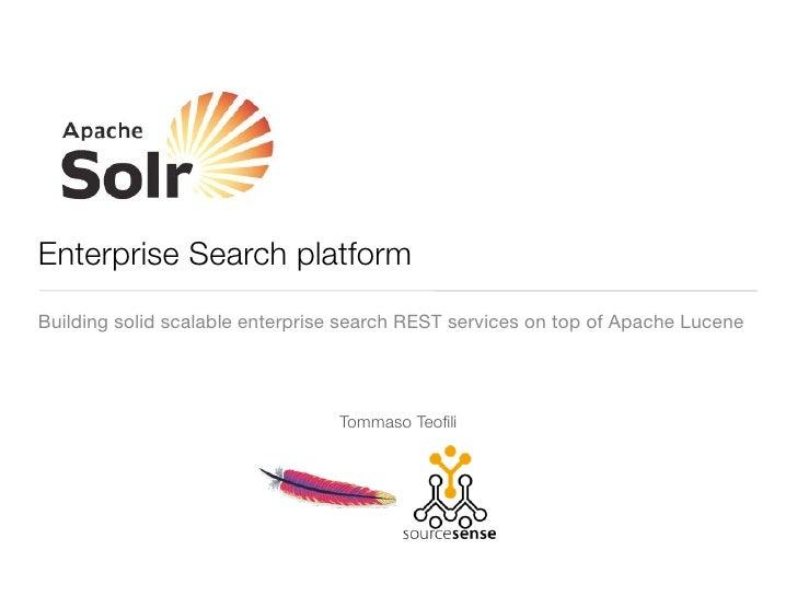 Apache Solr - Enterprise search platform
