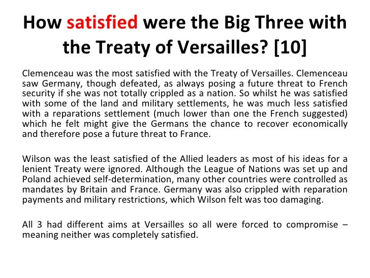 Treaty of Versailles Revision