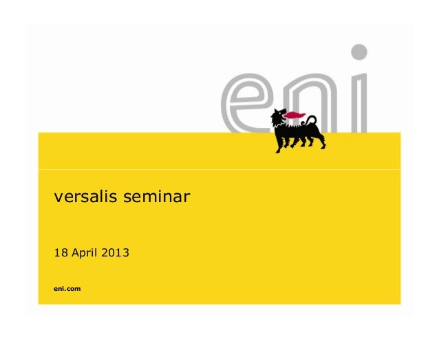 versalis seminar