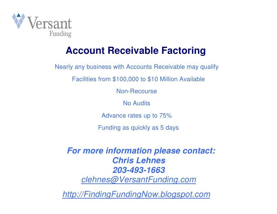 Versant factoring overview