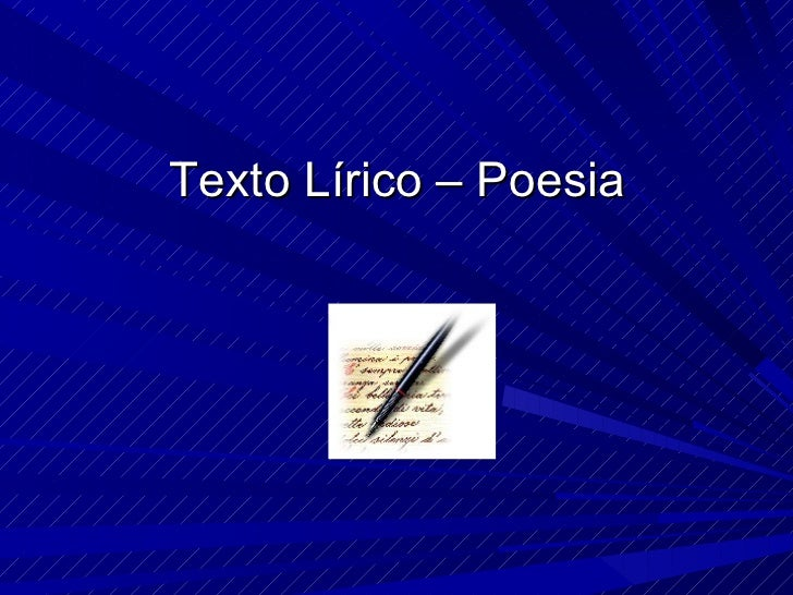 Texto Lírico – Poesia
