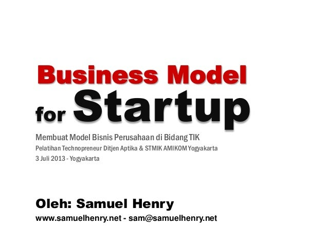 Business Model for Startup