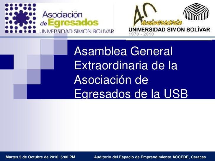 Informe de Gestión de la AEUSB 2009-2010