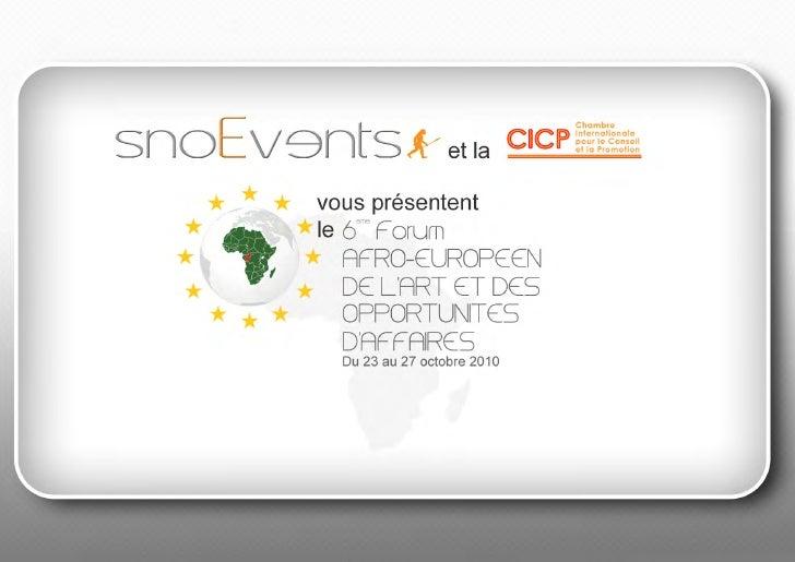 Forum de l'Art et des Opportunités d'affaires