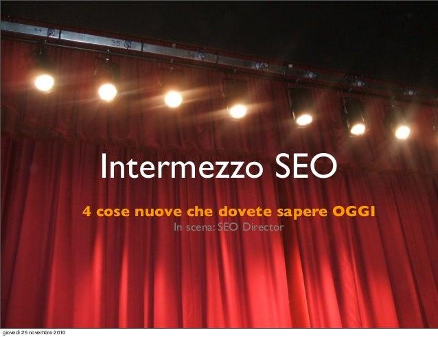 SEO a Teatro (versione ridotta corso 2010)