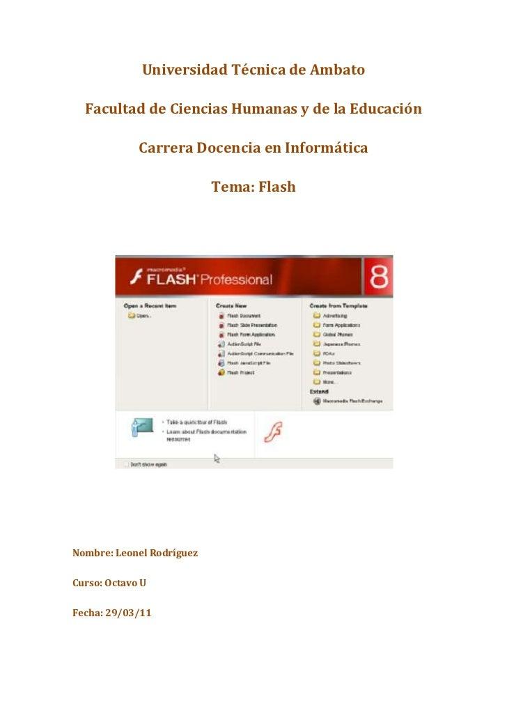 Universidad Técnica de Ambato<br />Facultad de Ciencias Humanas y de la Educación<br />Carrera Docencia en Informática<br ...