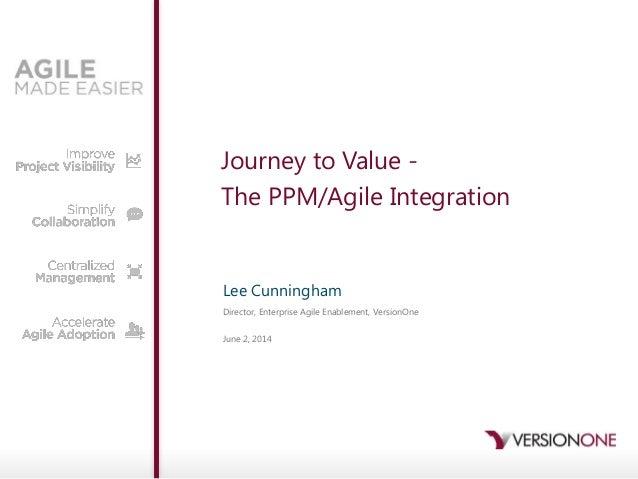 VersionOne Gartner PPM Presentation 2014: Journey to Value - The PPM/Agile Integration