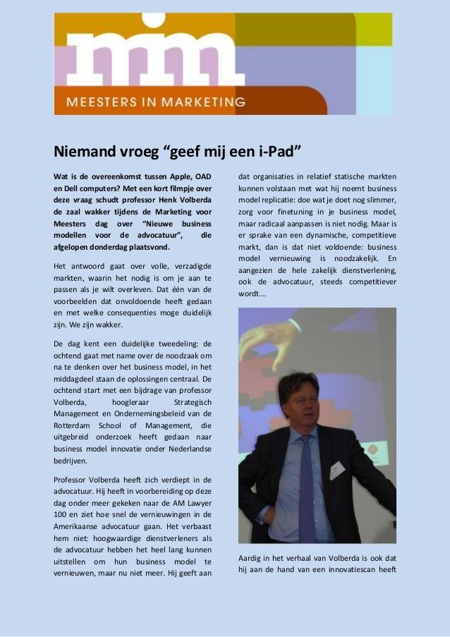 Terugblik Marketing voor Meesters dag 2013