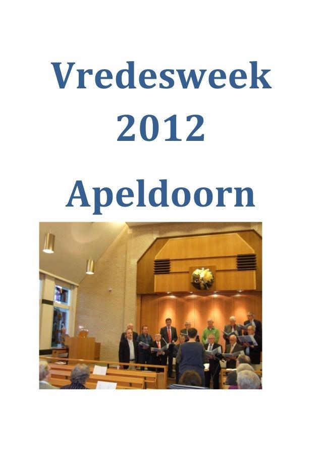 Verslag vredesweek2012apeldoorn