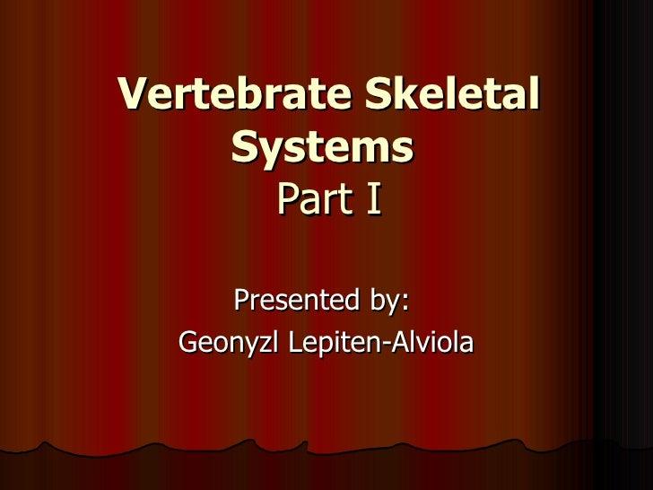 Vertebrate Skeletal Systems