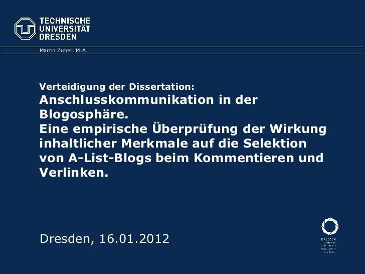 Danksagung Dissertation Vorlage