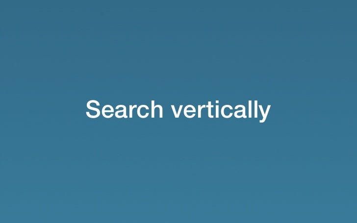 Search vertically