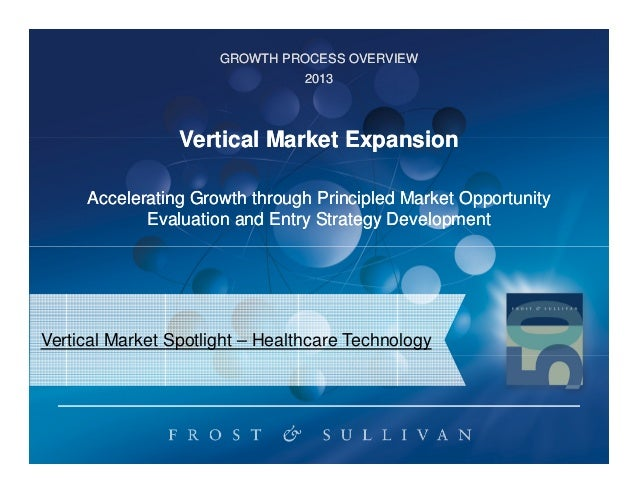 GROWTH PROCESS OVERVIEW 2013  Vertical Market Expansion Accelerating Growth through Principled Market Opportunity Evaluati...
