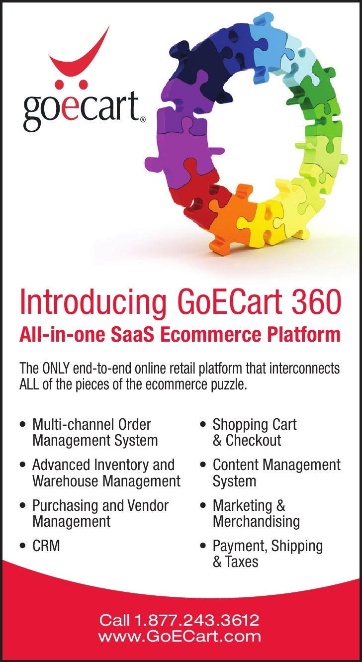 Introducing GoECart 360All-in-one SaaS Ecommerce PlatformThe ONLY end-to-end online retail platform that interconnectsALL ...