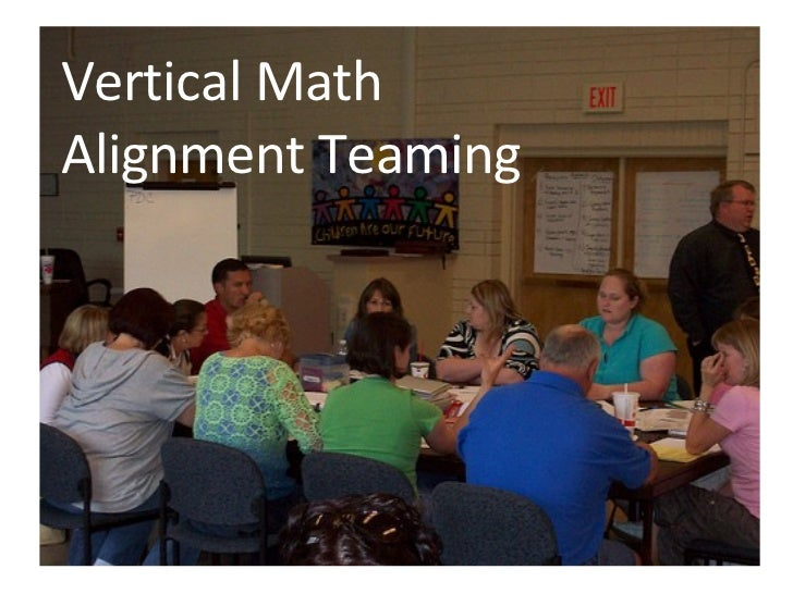 Vertical Math Alignment Teaming