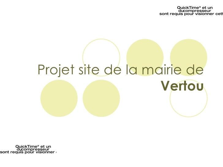 Projet site de la mairie de  Vertou