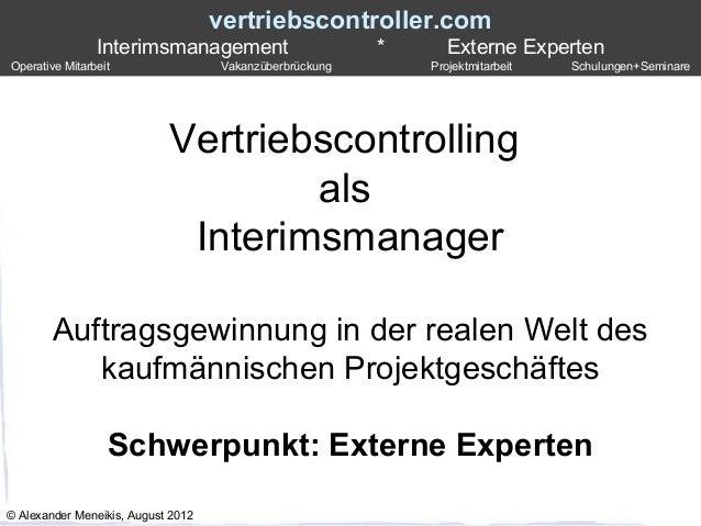 vertriebscontroller.com                Interimsmanagement                       *      Externe ExpertenOperative Mitarbeit...