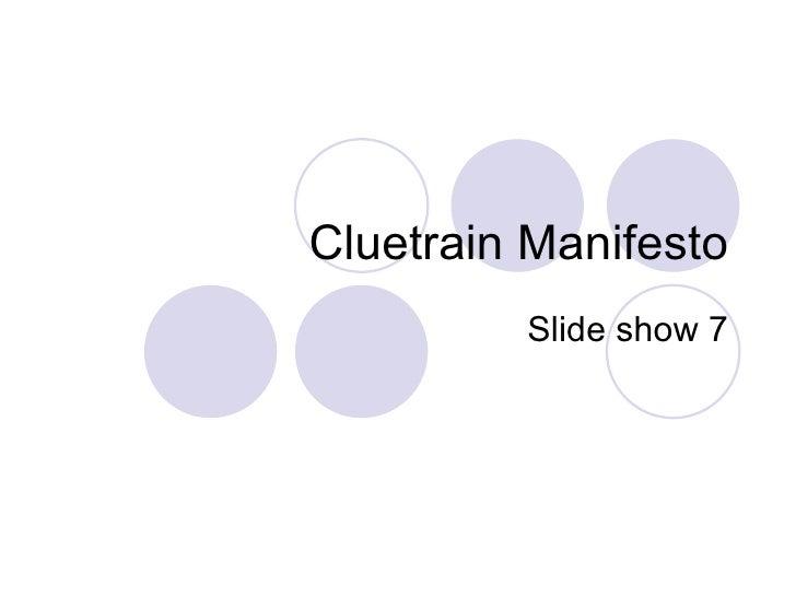 Cluetrain Manifesto Slide show 7