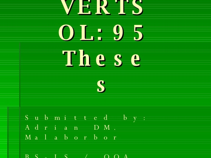 95 Theses VERTSOL