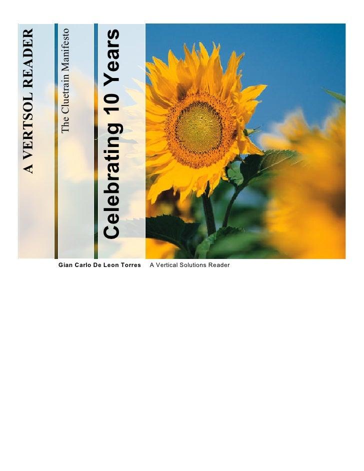 A VERTSOL READER                                          The Cluetrain Manifesto                                  Celebra...