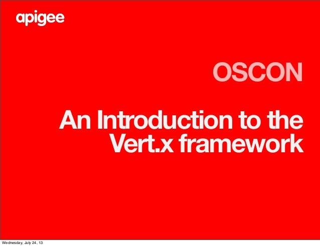 An Introduction to the Vert.x framework