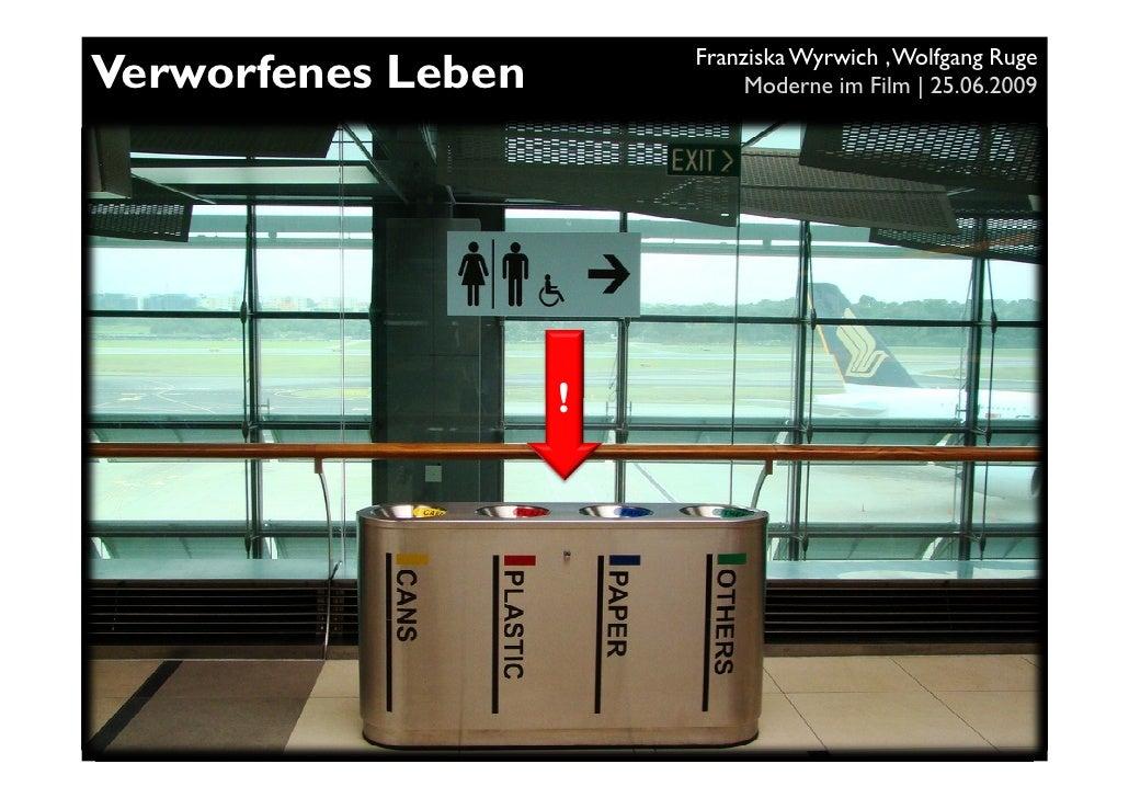 Franziska Wyrwich , Wolfgang Ruge Verworfenes Leben            Moderne im Film | 25.06.2009                         !