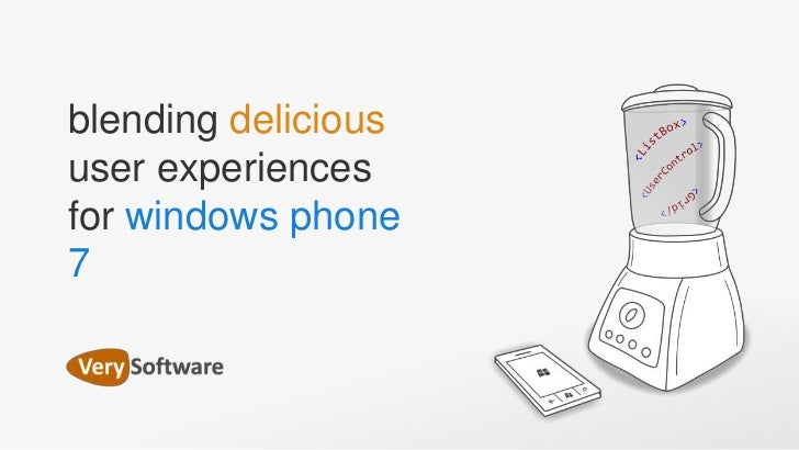 blending delicious user experiences for windows phone 7<br />