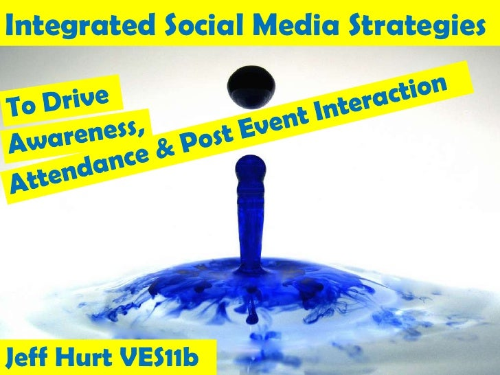 Integrated Social Media Strategies<br />To Drive<br />Attendance & Post Event Interaction<br />Awareness,<br />Jeff Hurt V...