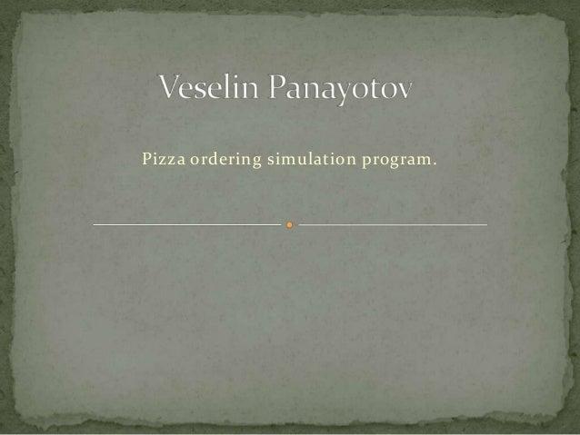 Veselin panayotov final project presentation final