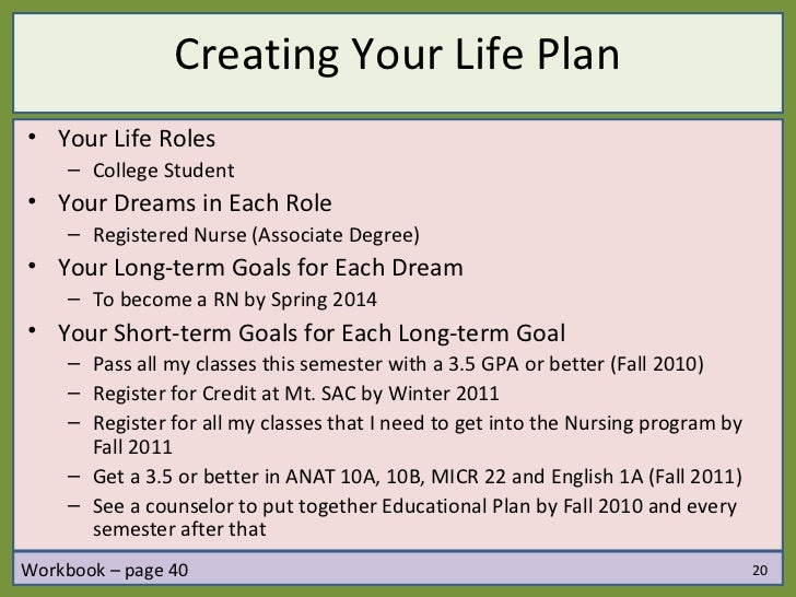 examples of short and long term career goals