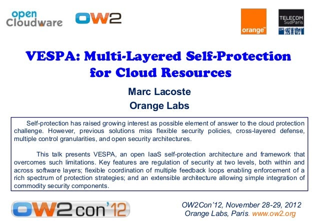 VESPA: Multi-Layered Self-Protection           for Cloud Resources                                        Marc Lacoste    ...