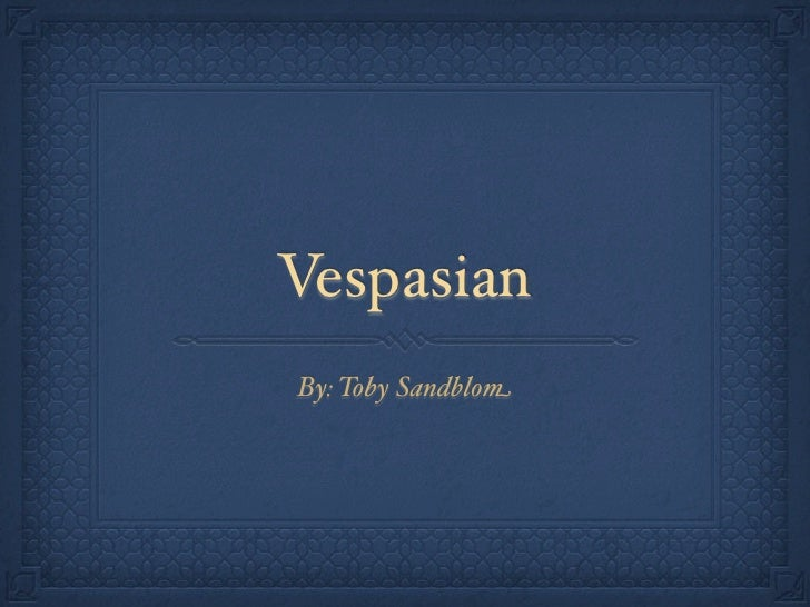 Vespasian presentation