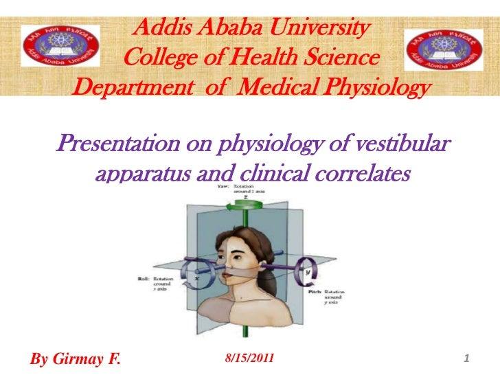 Vestibular sysstem
