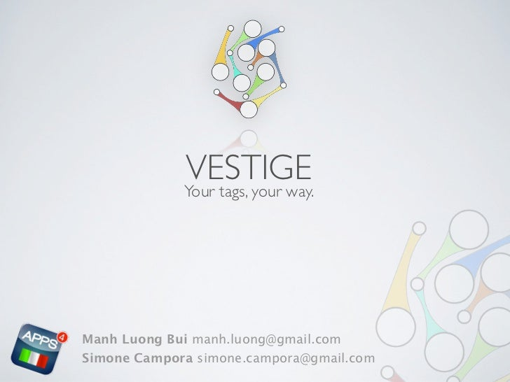 Vestige: Managing tags for #a4i
