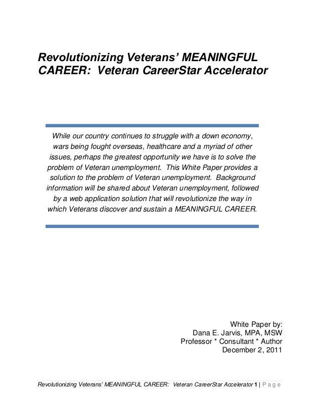veteran careerstar accelerator white paper