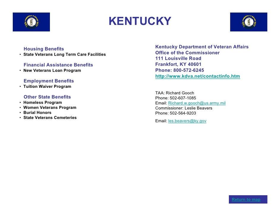 Housing benefits kentucky department of veteran affairs state veterans