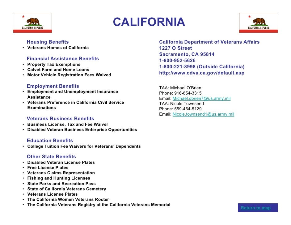 Veterans benefits by state for Dept of motor vehicles sacramento ca