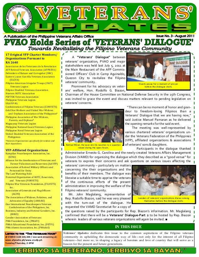 "17 Original VFP Charter Members/Organizations Pursuant to                                     A ""Veterans' Dialogue"" betwe..."