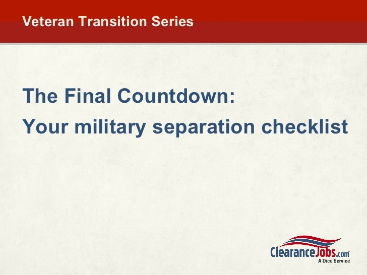 Military Separation Guide