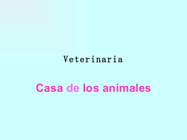 Veterinaria Casa   de   los animales