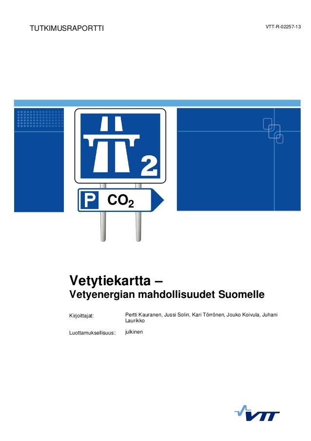 Vetytiekartta: Vetyenergian mahdollisuudet Suomelle