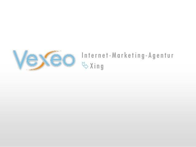 Vexeo informiert über Xing