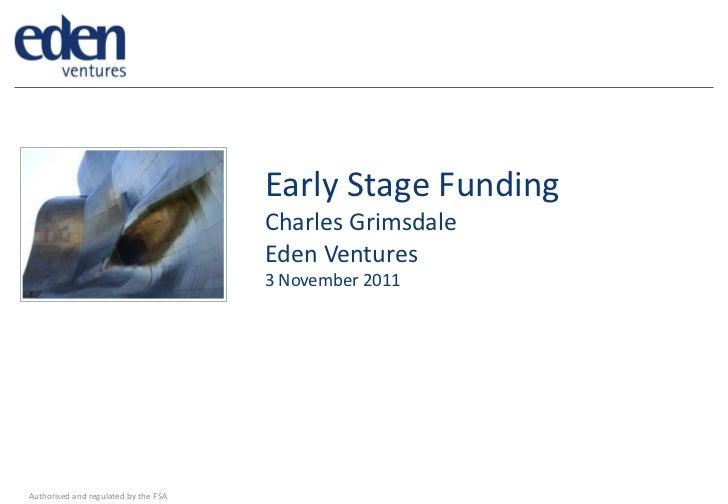 Venturefest Bristol 2011, Charles Grimsdale, Eden Ventures